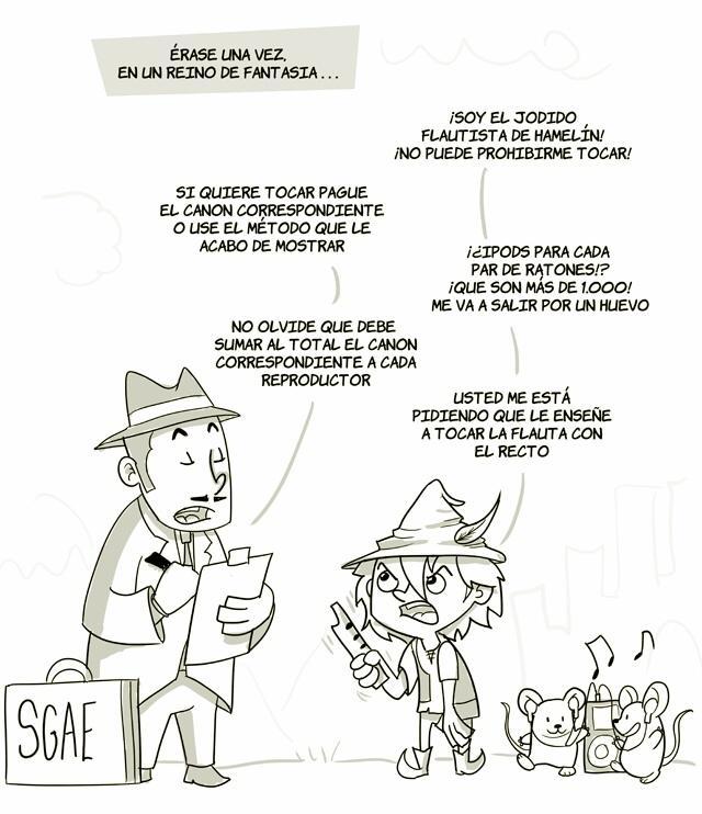 El flautista de la SGAE