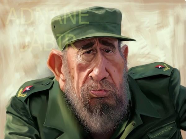 Fidel muere y llega al cielo, pero no estaba en la lista, y….