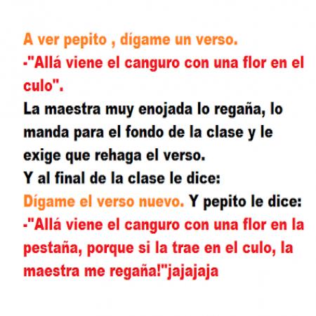 El <strong>chiste</strong> de las poesias de PEPITO