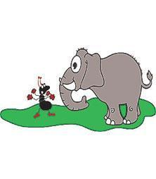la hormiga y el elefante