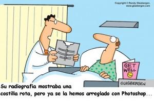 Médicos y photoshop