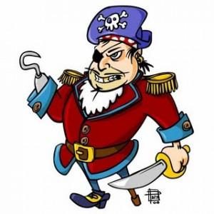 pirata gancho palo y parche