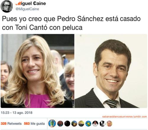 Con quien está casado Pedro Sanchez - Chistes D